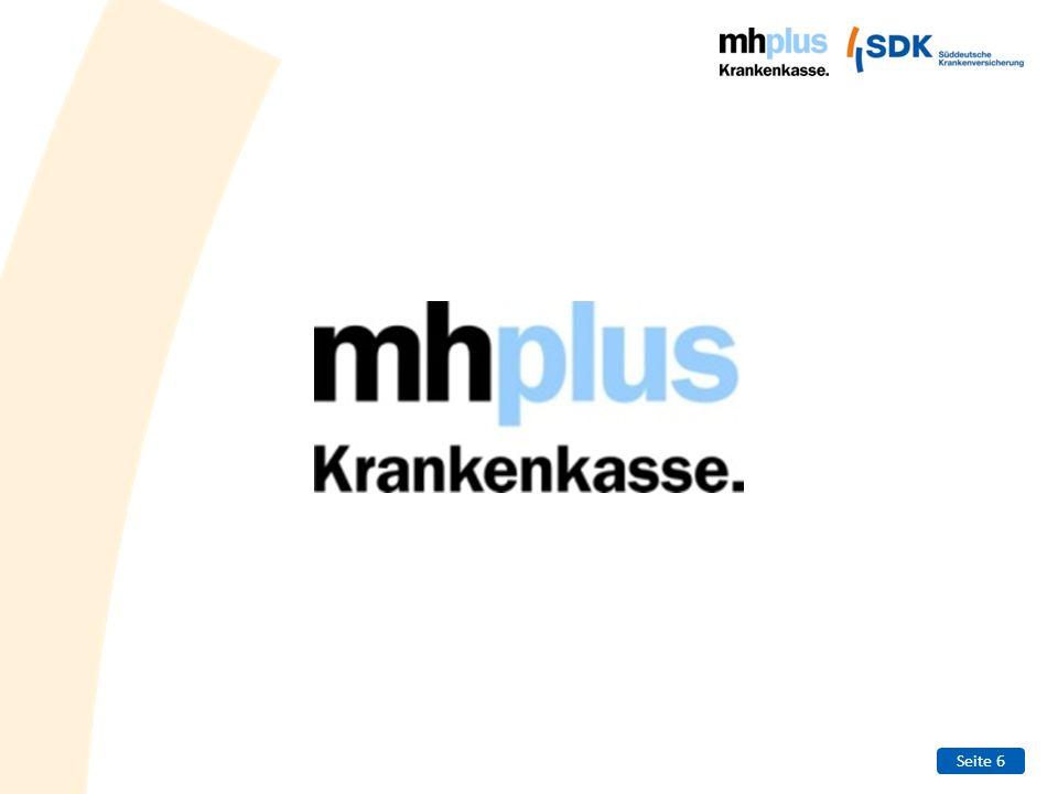 Seite 7 Die mhplus in Zahlen Versicherte:ca.