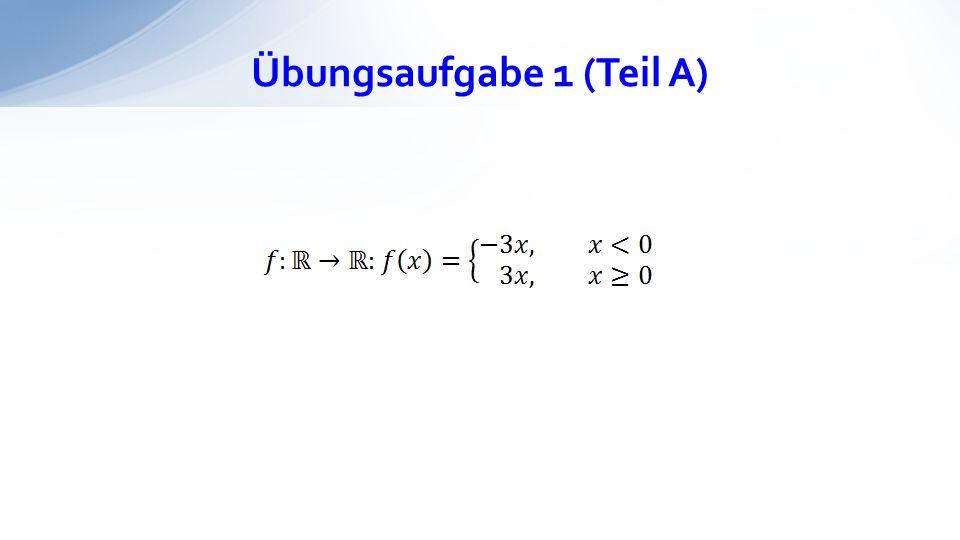Was macht diese Funktion.Die Funktion ordnet einer reellen Zahl eine andere reelle Zahl zu.