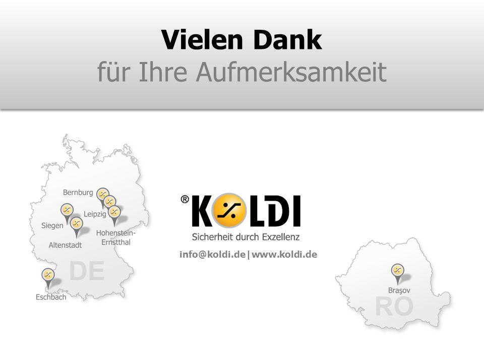 Vielen Dank für Ihre Aufmerksamkeit info@koldi.de|www.koldi.de