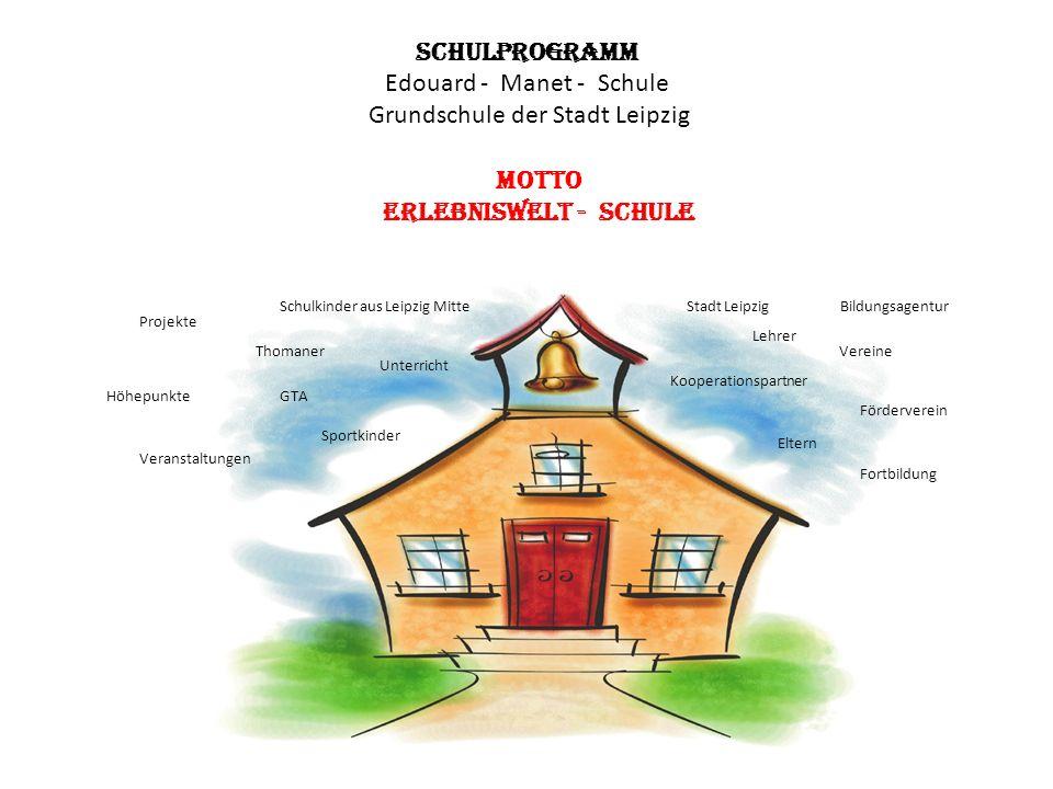 Schulprogramm Edouard - Manet - Schule Grundschule der Stadt Leipzig Motto Erlebniswelt - Schule Lehrer Eltern Thomaner Sportkinder Vereine Kooperatio
