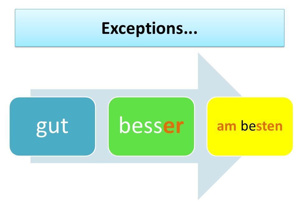 Exceptions... gutbesser am besten
