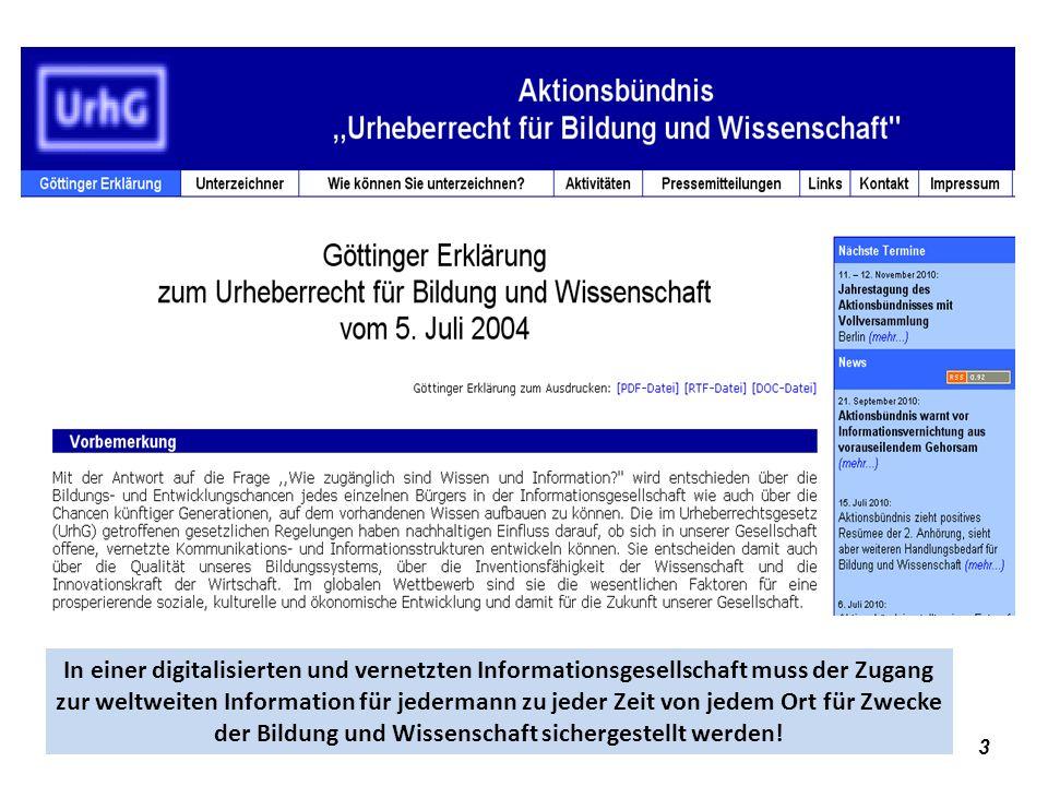 Open Access – Institutionalisierungsform für das Gemeingut Wissen 34 Open Access – Publikationsformen e-Print-Server Beispiel Physik: http://arxiv.org/http://arxiv.org/ Direkt-/Primär-/Sekundärpublikation auf eigener Website Beispiel: http://www.kuhlen.name/http://www.kuhlen.name/ Primärpublikation in derzeit ( 8.5.2011) ( 6482 ) Open-Access-Zeitschriften (Golden Road) 4438 - Stand 19.11.09 – 5834 - (7.12.2010) http://www.doaj.org/ - 565942 articles - 2849 journals searchable at article level Impact-factor: Open Citation Project: http://opcit.eprints.org/oacitation-biblio.html http://www.doaj.org/http://opcit.eprints.org/oacitation-biblio.html Sekundärpublikationen in Open-Access-Repositories und OA-Plattformen (Green Road) OpenDoar: http://www.opendoar.org/ Erfolgsfaktoren (CIRSS-Report): https://www.ideals.uiuc.edu/bitstream/2142/8981/5/Palmer%20et%20al%20Mellon%20Report.pdfhttp://www.opendoar.org/ https://www.ideals.uiuc.edu/bitstream/2142/8981/5/Palmer%20et%20al%20Mellon%20Report.pdf Probleme des Institutional Mandate; vgl.