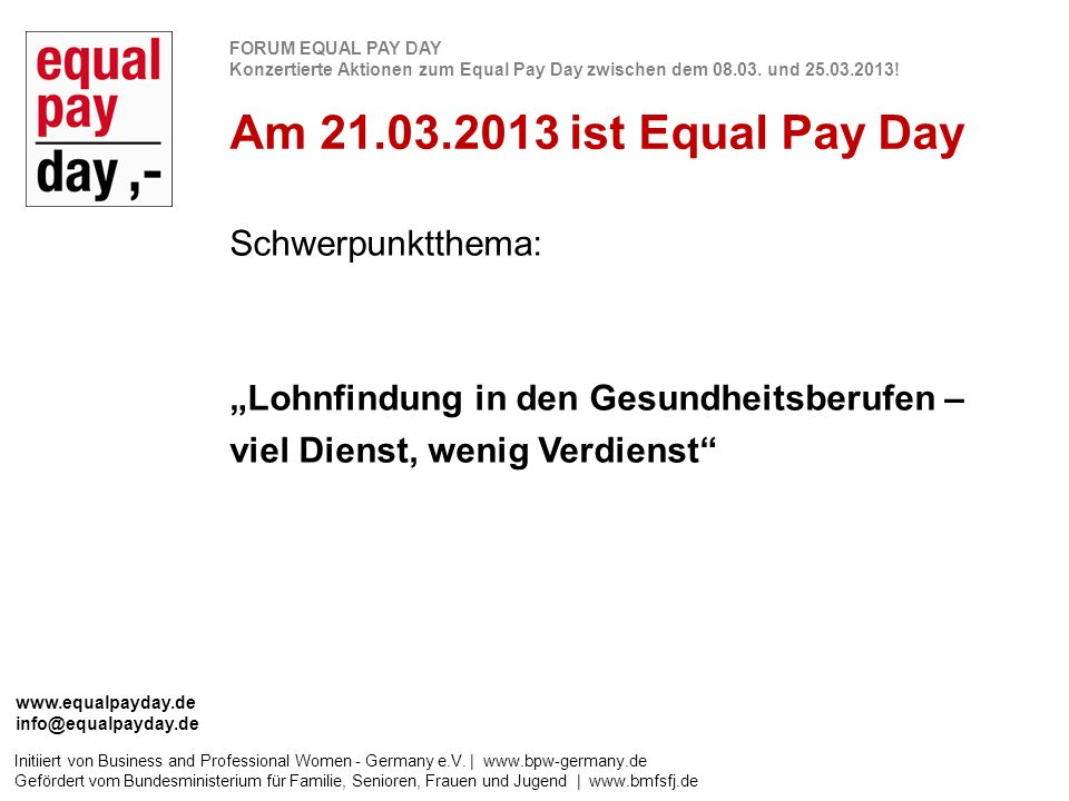 Initiiert von Business and Professional Women - Germany e.V. | www.bpw-germany.de Gefördert vom Bundesministerium für Familie, Senioren, Frauen und Ju