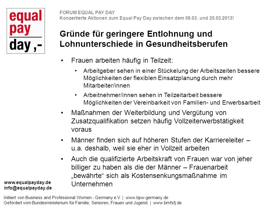 Initiiert von Business and Professional Women - Germany e.V.