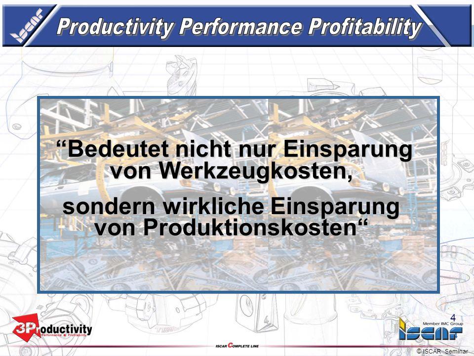 © ISCAR Seminar 3 Partner zur Produktivitätssteigerung