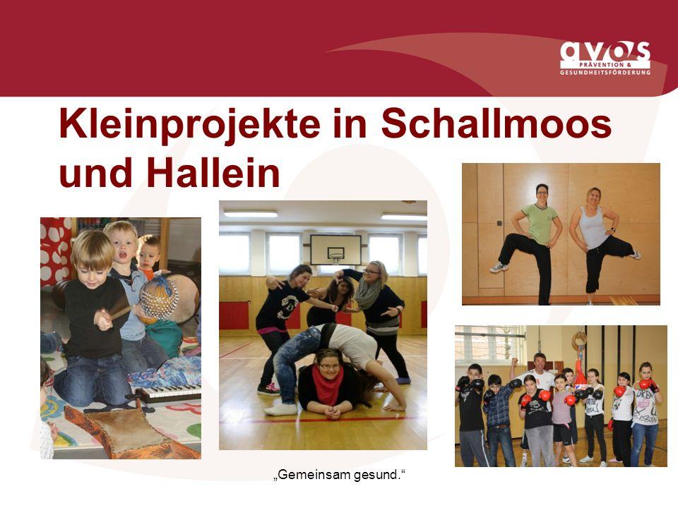Kleinprojekte in Schallmoos und Hallein Gemeinsam gesund.