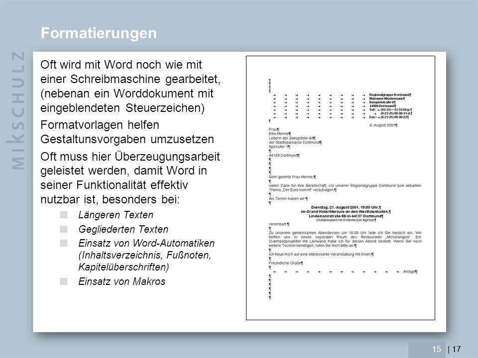 | 17 16 Farbe Officesoftwares arbeiten i.d.R.