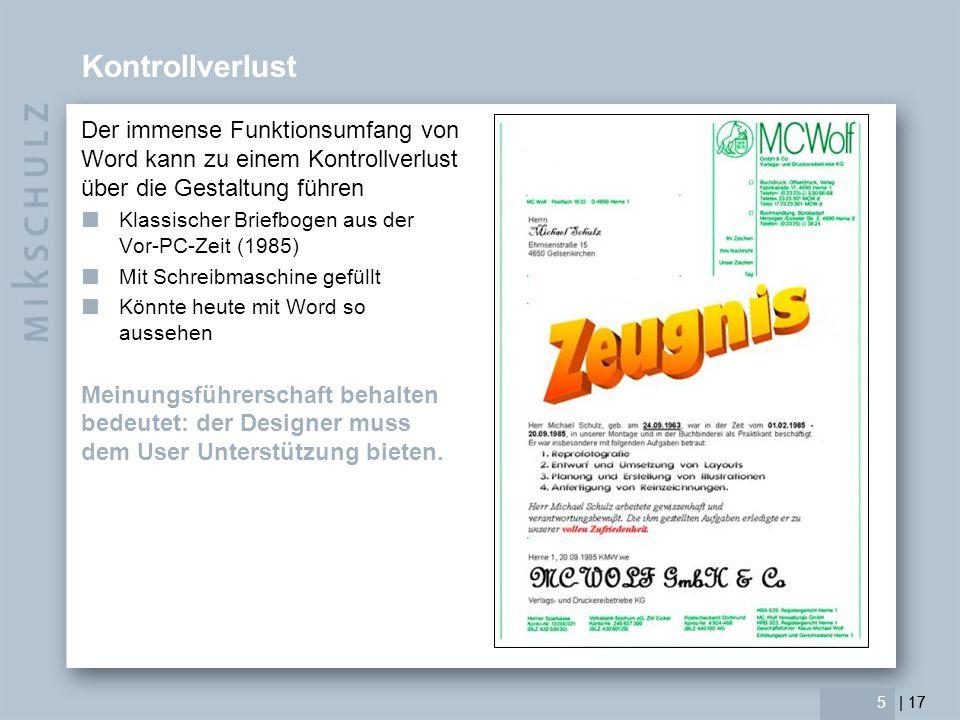| 17 Option 1 = Klassik (Texteindruck in Vordruck) Der Briefbogen wird klassisch gestaltet, inklusive der Kommunikationsdaten und z.B.