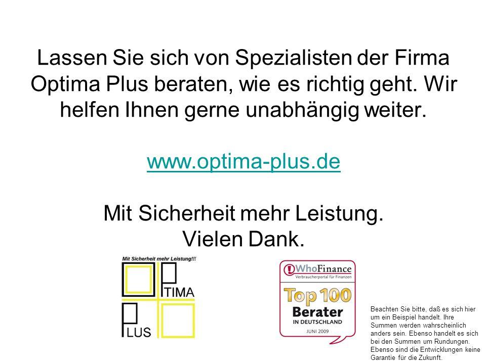 Lassen Sie sich von Spezialisten der Firma Optima Plus beraten, wie es richtig geht. Wir helfen Ihnen gerne unabhängig weiter. www.optima-plus.de Mit