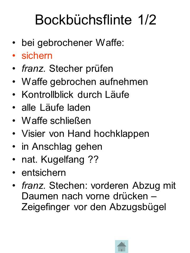 Bockbüchsflinte 2/2 Halt, Bock springt ab!.
