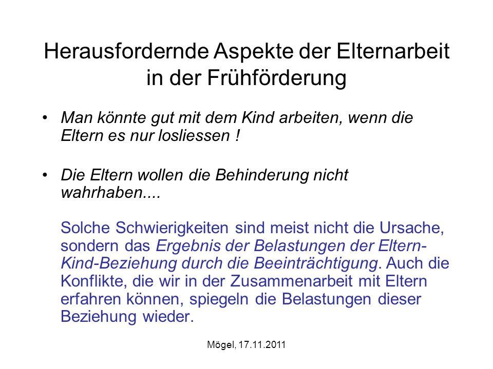 Mögel, 17.11.2011 Übersicht Anders als erhofft...