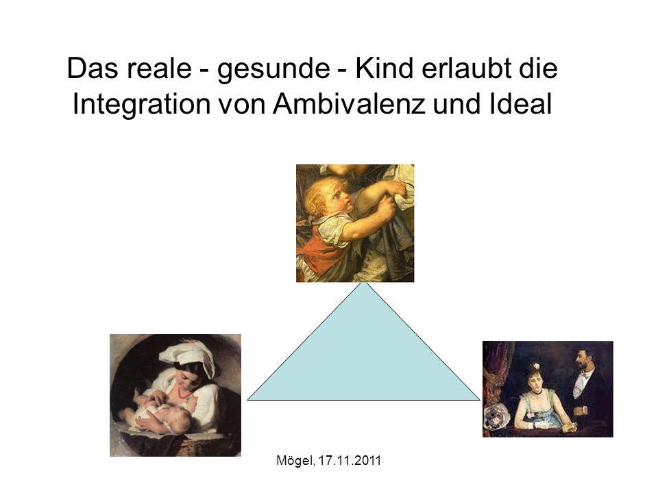 Mögel, 17.11.2011 Das reale - gesunde - Kind erlaubt die Integration von Ambivalenz und Ideal