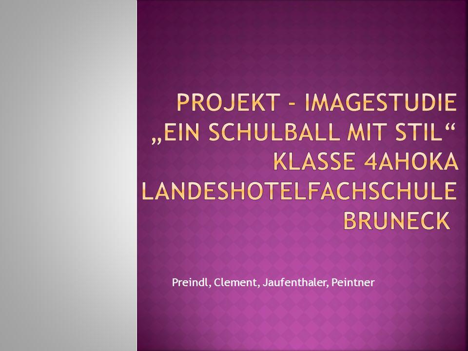 Projektleiter: Dr.Matthias Larcher Lehrperson für BWL Projektmitglieder: Dr.
