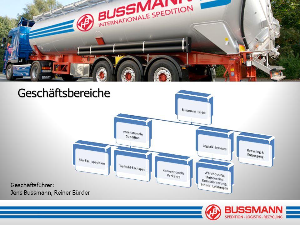 Geschäftsbereiche Geschäftsführer: Jens Bussmann, Reiner Bürder