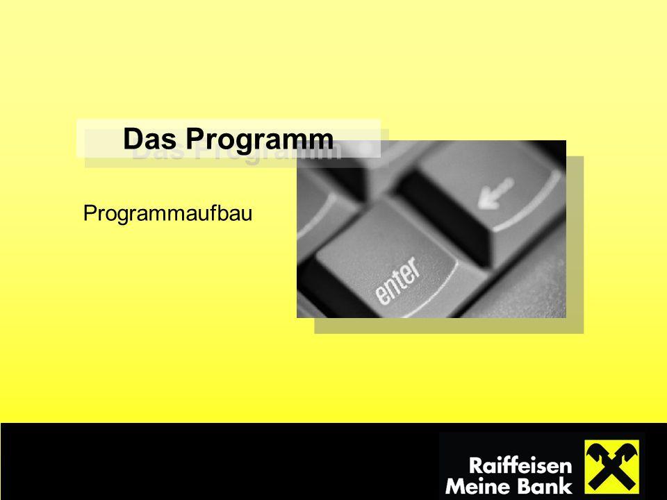 Das Programm Programmaufbau