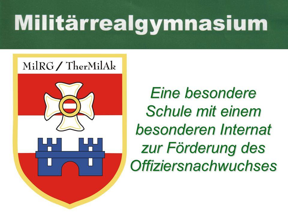 Das Militärrealgymnasium ist ein Oberstunfenrealgymnasium mit naturwissenschaftlichem Schwerpunkt und einem militärisch geführtem Internat gegründet durch ein Ressortübereinkommen BMLV - BMU