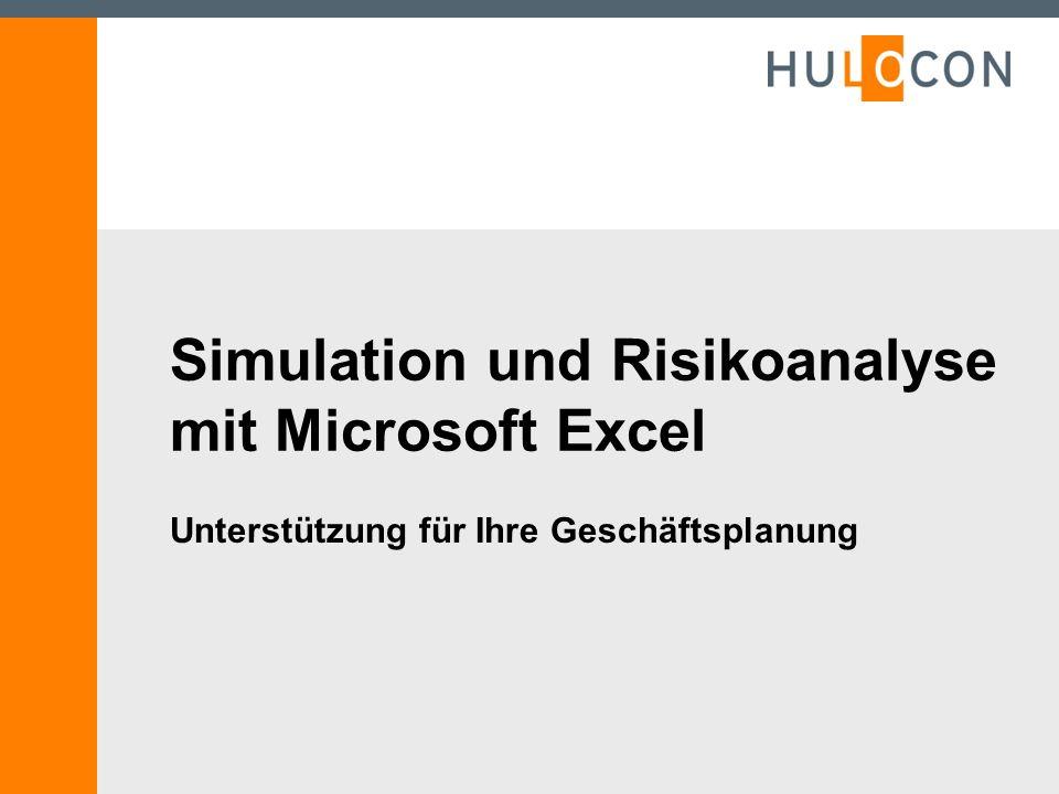 Simulation und Risikoanalyse mit Microsoft Excel Unterstützung für Ihre Geschäftsplanung