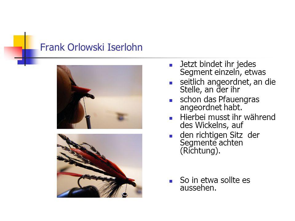Der Streamer Alexandra von Frank Orlowski Iserlohn Die Überstände der Segmente vorsichtig mit der Scherenspitze abschneiden.
