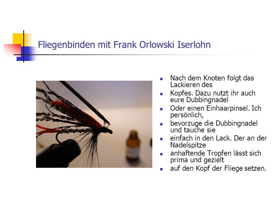 www.das-grosse-schwedenforum.de Achtet darauf, dass: a) der Lack nicht das Öhr durch Verlaufen verschließt.
