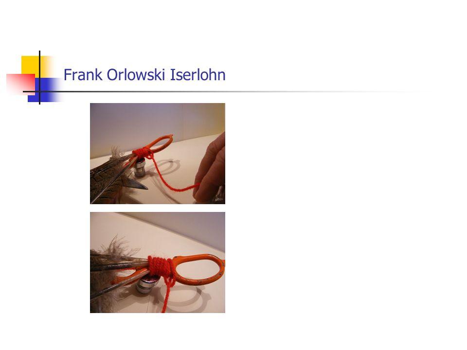 Fliegenbinden mit Frank Orlowski Iserlohn Der Bindefaden kann nun abgeschnitten werden.