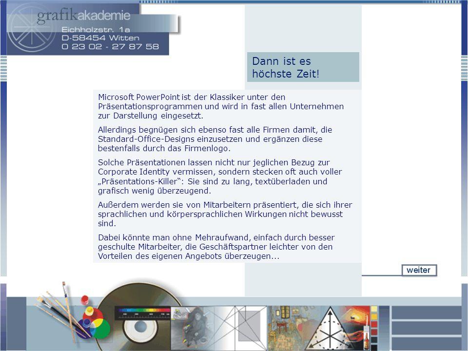 Microsoft PowerPoint ist der Klassiker unter den Präsentationsprogrammen und wird in fast allen Unternehmen zur Darstellung eingesetzt.
