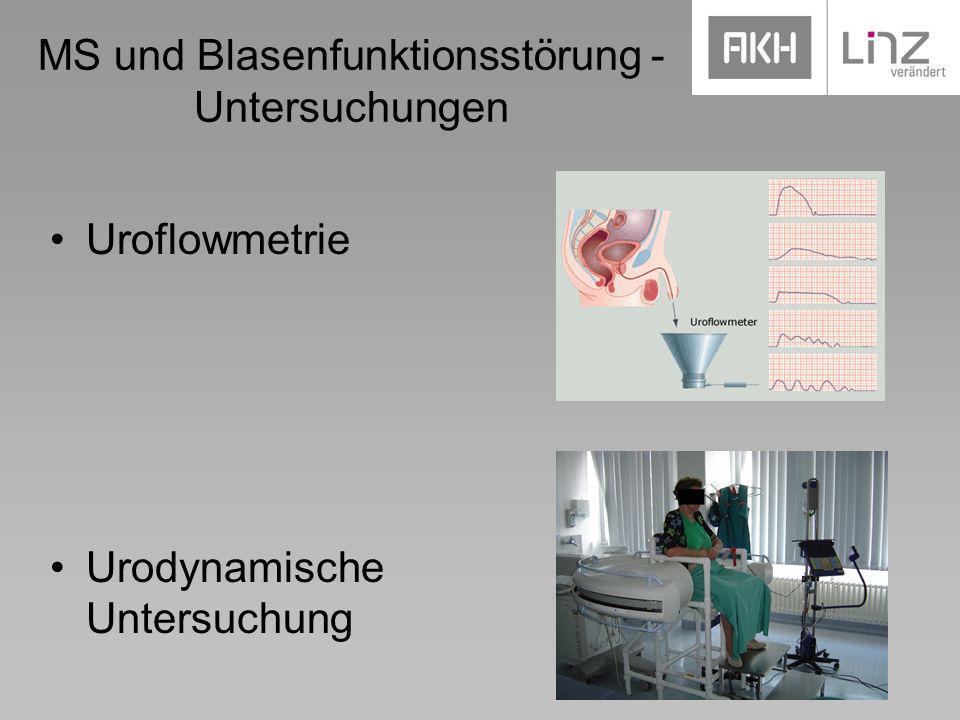 MS und Blasenfunktionsstörung - Untersuchungen Uroflowmetrie Urodynamische Untersuchung