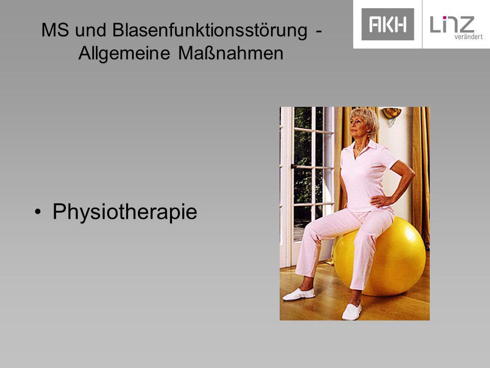 MS und Blasenfunktionsstörung - Allgemeine Maßnahmen Physiotherapie