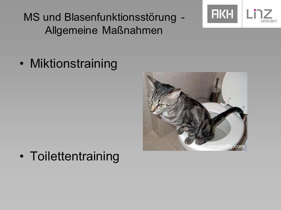 MS und Blasenfunktionsstörung - Allgemeine Maßnahmen Miktionstraining Toilettentraining