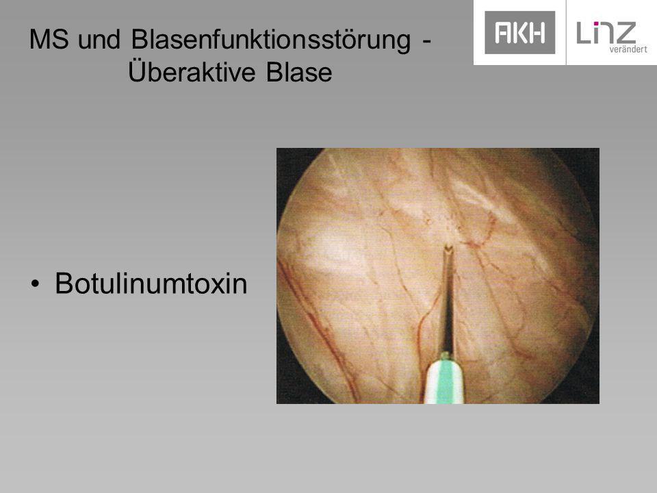 MS und Blasenfunktionsstörung - Überaktive Blase Botulinumtoxin