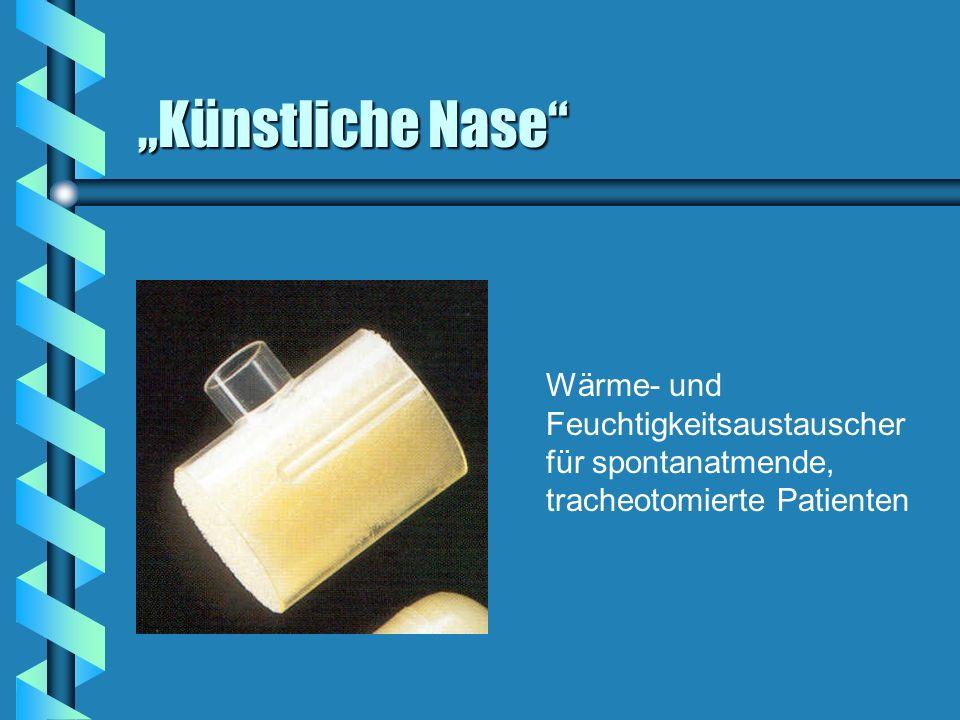 Künstliche Nase Wärme- und Feuchtigkeitsaustauscher für spontanatmende, tracheotomierte Patienten