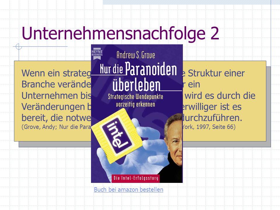 Unternehmensnachfolge 2 Herausforderungen psychologisch (steuer)rechtlich strategisch Wenn ein strategischer Wendepunkt die Struktur einer Branche ver