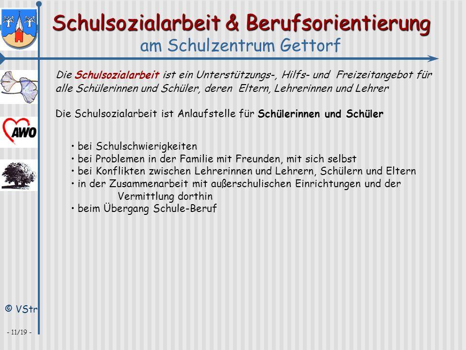 Schulsozialarbeit & Berufsorientierung am Schulzentrum Gettorf © VStr - 11/19 - Die Schulsozialarbeit ist ein Unterstützungs-, Hilfs- und Freizeitange