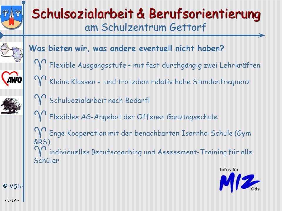 Schulsozialarbeit & Berufsorientierung am Schulzentrum Gettorf © VStr - 3/19 - Was bieten wir, was andere eventuell nicht haben? ^ Flexible Ausgangsst