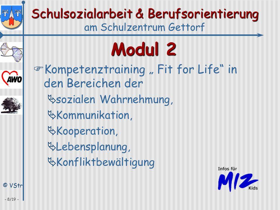 Schulsozialarbeit & Berufsorientierung am Schulzentrum Gettorf © VStr - 8/19 - Modul 2 Kompetenztraining Fit for Life in den Bereichen der sozialen Wa