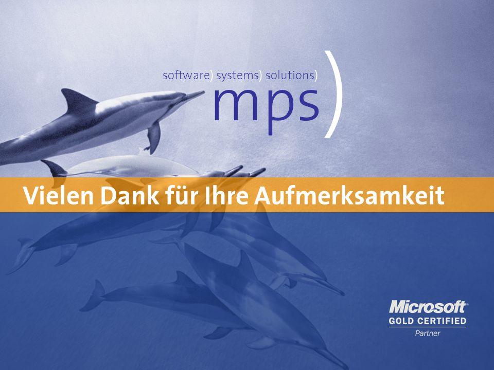 Bewertung des Anlagevermögens mit mpsNF 25Workshop Vermögensbewertung23. Februar 2014 Vielen Dank für Ihre Aufmerksamkeit mps ) software) systems) sol