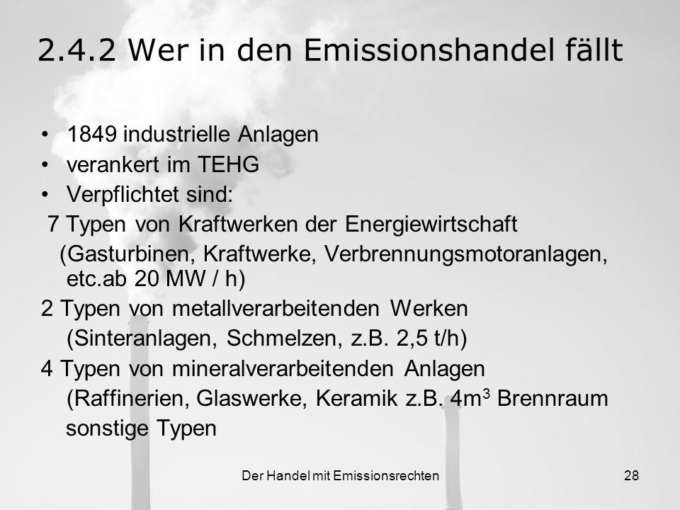 Der Handel mit Emissionsrechten27 2.4.Ablauf des Emissionshandels 2.4.1.Implementierung, Ablauf und Ziel Tradingday / EU Allowance 08.12.20048,58 14.0