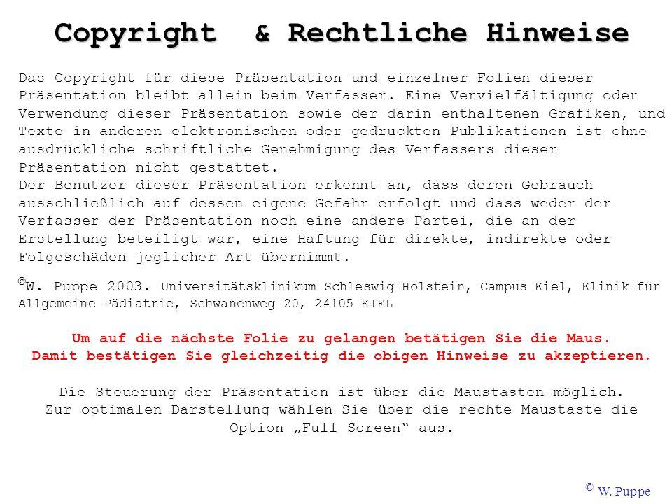Copyright & Rechtliche Hinweise Das Copyright für diese Präsentation und einzelner Folien dieser Präsentation bleibt allein beim Verfasser. Eine Vervi