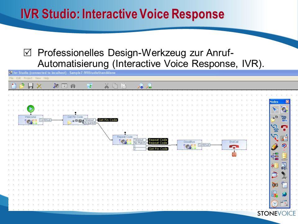 IVR Studio: Interactive Voice Response Professionelles Design-Werkzeug zur Anruf- Automatisierung (Interactive Voice Response, IVR). Mit dem IVR Studi