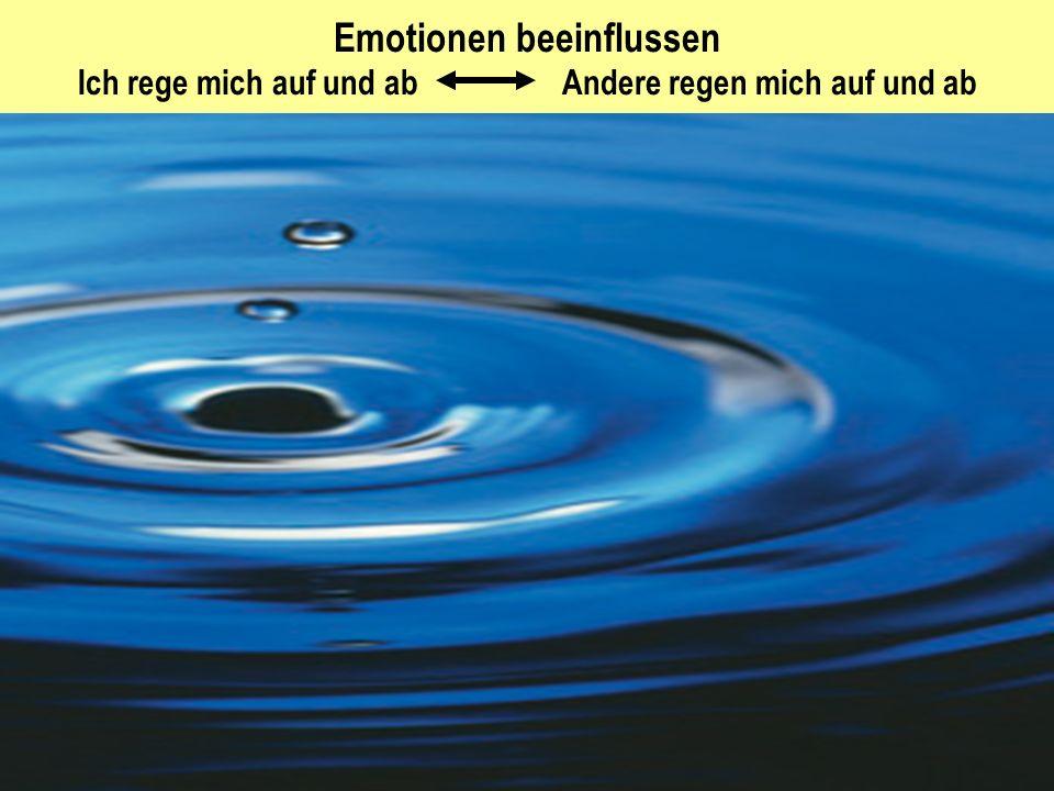 3 Emotionen beeinflussen Ich rege mich auf und ab Andere regen mich auf und ab