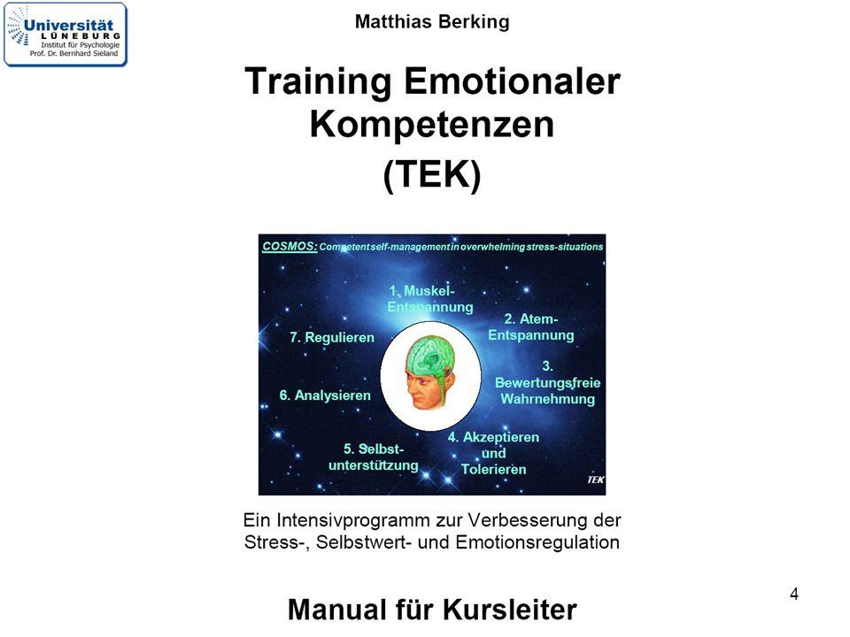 5 Matthias Berking Universität Bern Welche Gefühle sollten Sie und Ihre Schüler besser regulieren können.
