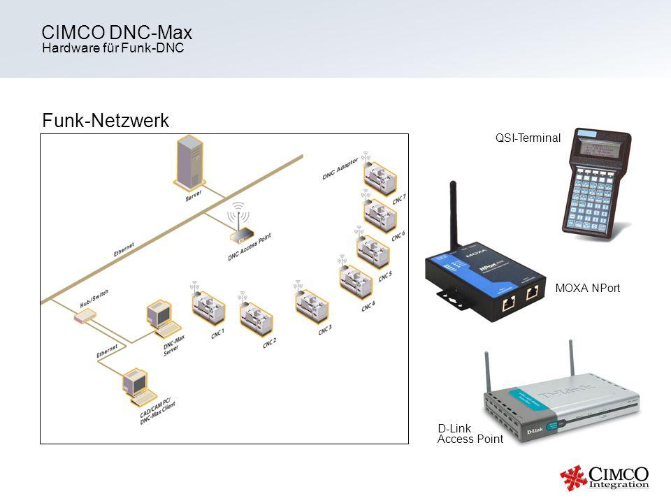 Hardware für Funk-DNC CIMCO DNC-Max Funk-Netzwerk MOXA NPort D-Link Access Point QSI-Terminal