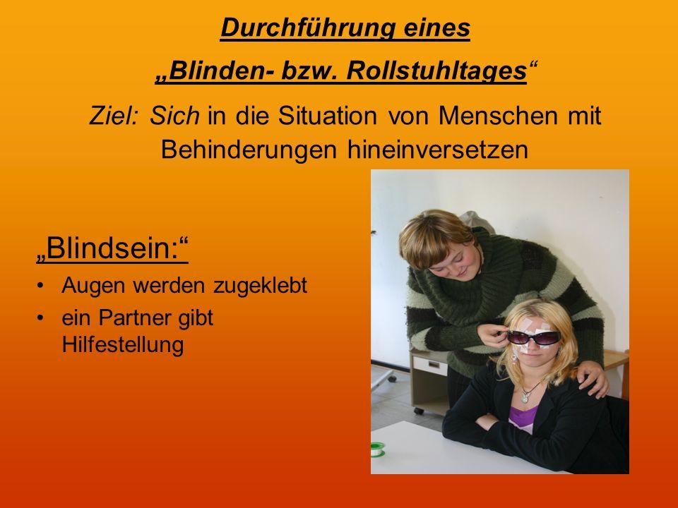 Durchführung eines Blinden- bzw.