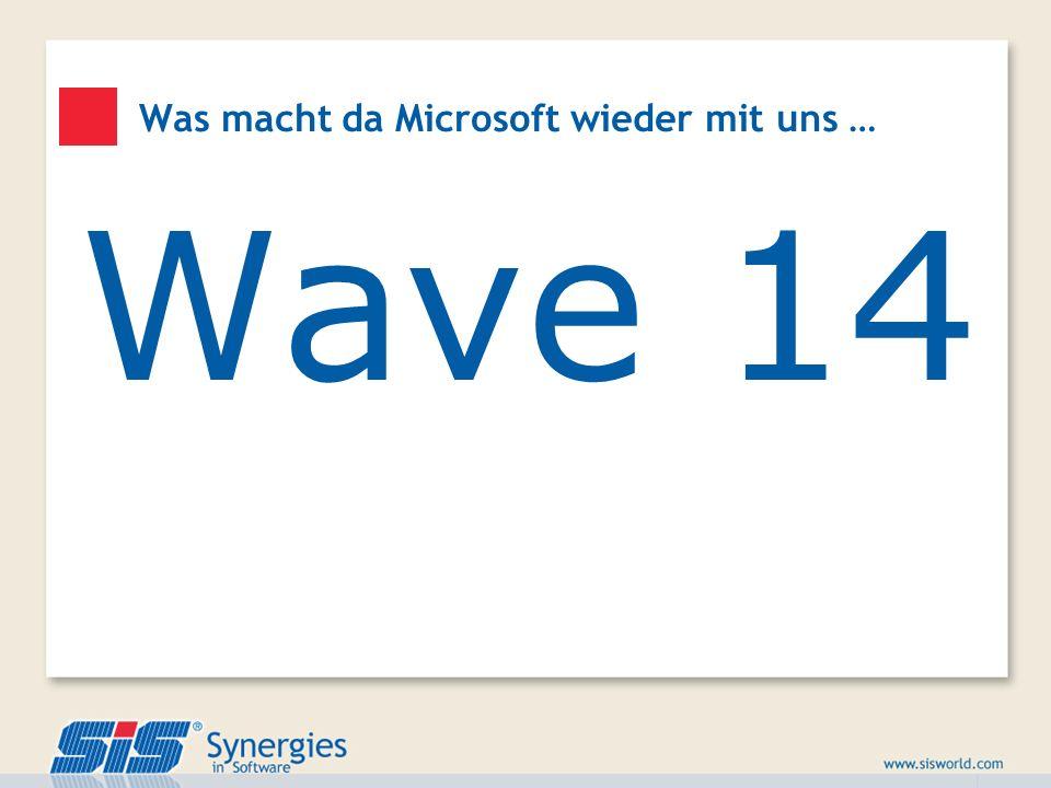 Wave 14 Was macht da Microsoft wieder mit uns …