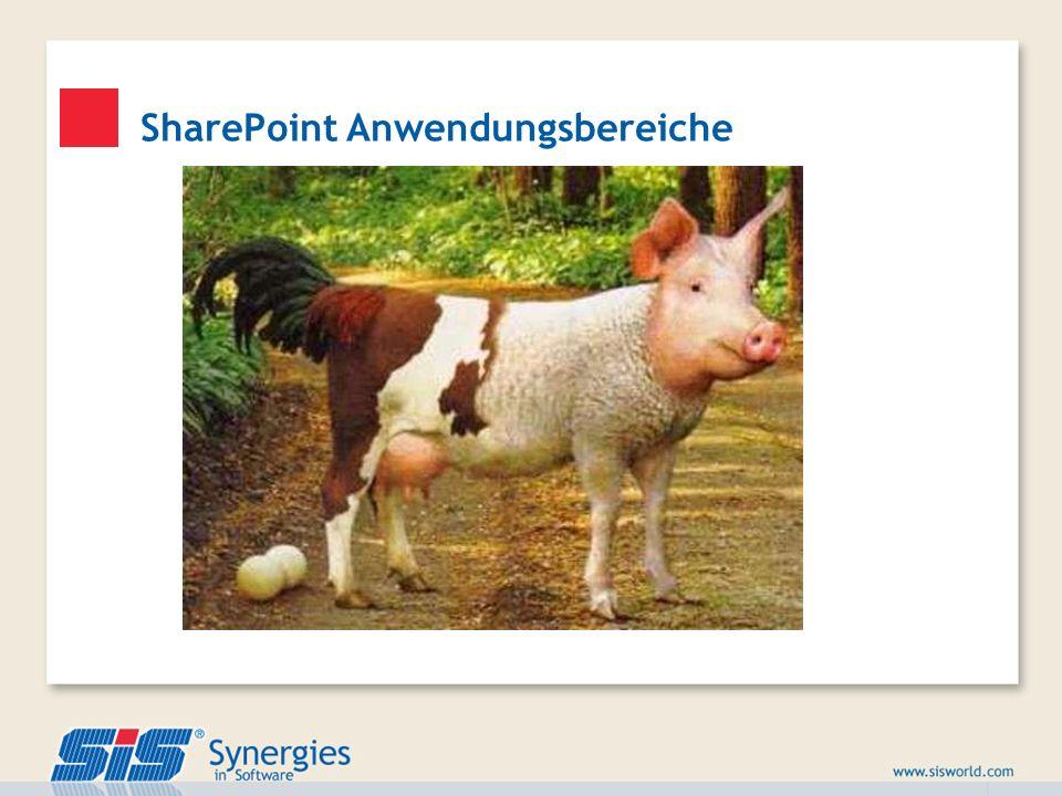 Portale Einsichten/BI TeamworkIndivlösungen Redaktion Suche SharePoint Anwendungsbereiche