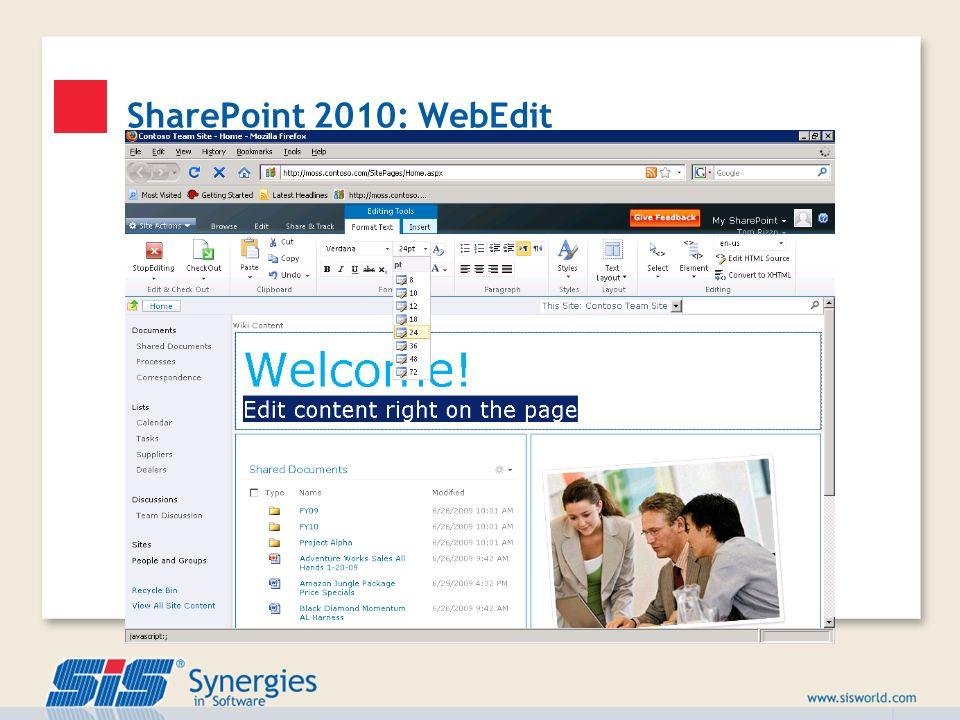 SharePoint 2010: WebEdit