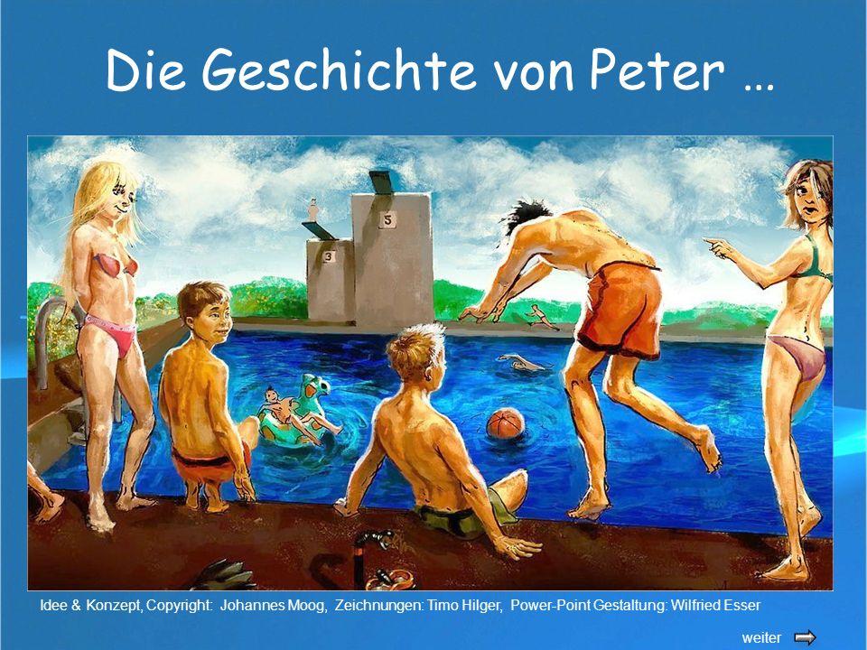 Die Geschichte von Peter … weiter Idee & Konzept, Copyright: Johannes Moog, Zeichnungen: Timo Hilger, Power-Point Gestaltung: Wilfried Esser