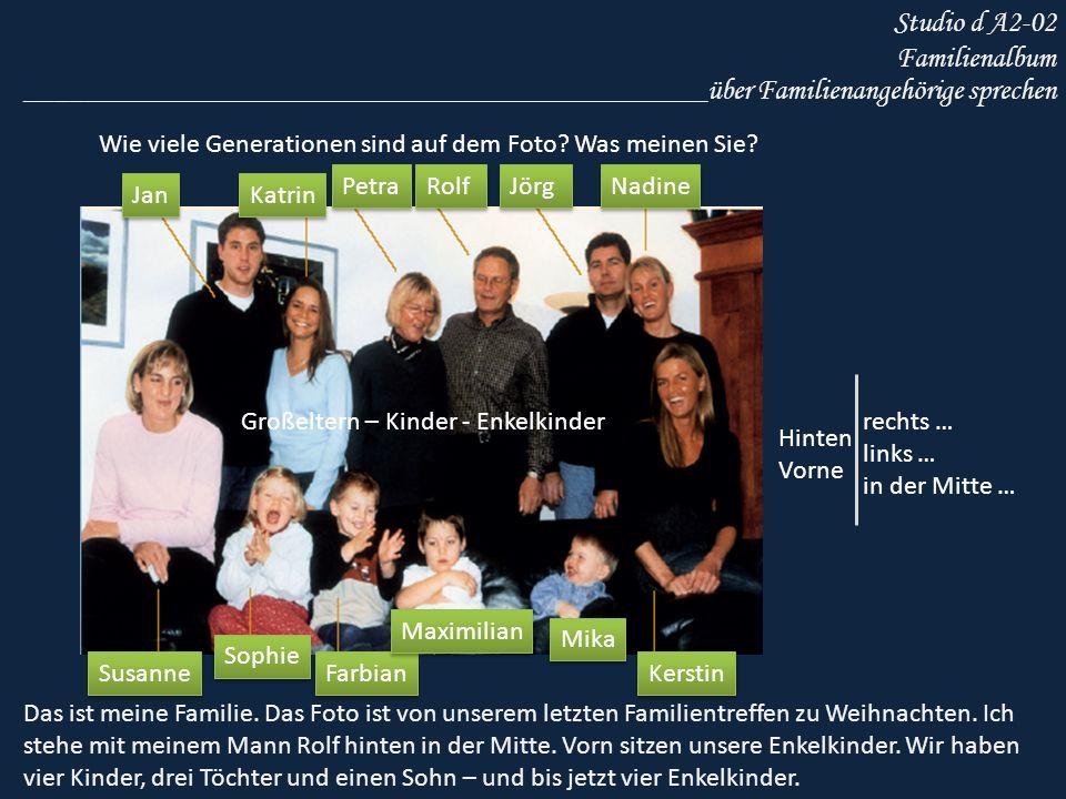 Studio d A2-02 Familienalbum Petra erzählt.Hören Sie.