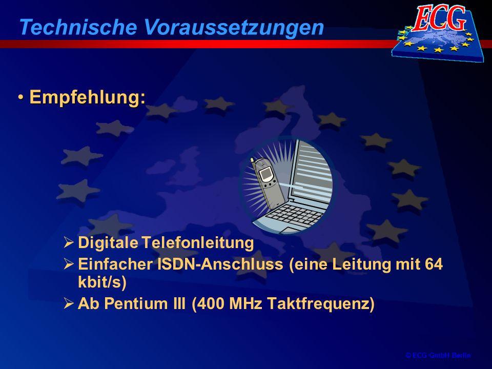 © ECG GmbH Berlin - eine Korrektur der Einnahmen und Ausgaben er- folgt grundsätzlich im aktuellen Zwischenbericht durch Saldobildung (sog.