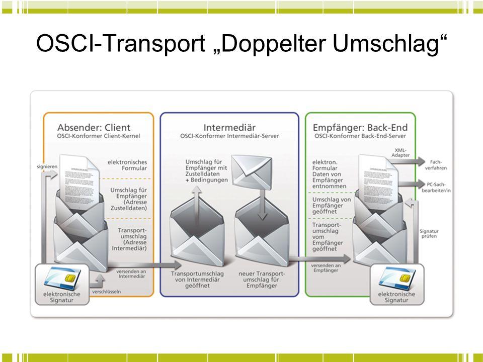 OSCI-Transport Doppelter Umschlag