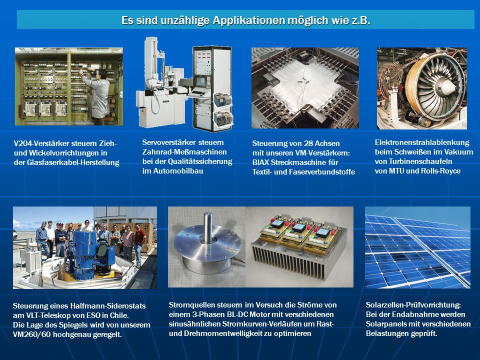 Servoverstärker steuern Zahnrad-Meßmaschinen bei der Qualitätssicherung im Automobilbau V204-Verstärker steuern Zieh- und Wickelvorrichtungen in der G